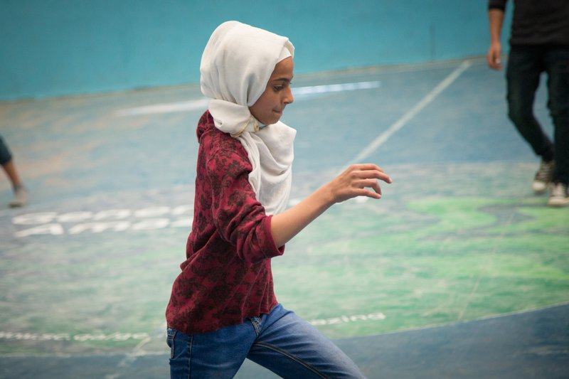 Baraa has developed a love of soccer after being  taught the game  by her Right To Play-trained coaches in Jordan, and now sees herself as an equal to her male classmates.