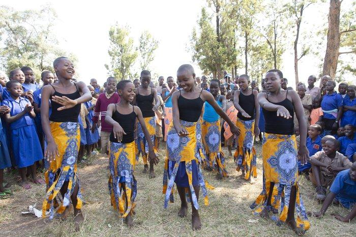 Girls dancing Rwanda