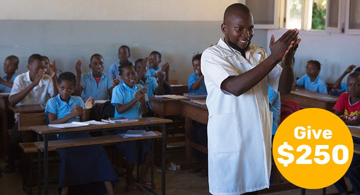 $250 can train a teacher to transform the lives of children facing adversity