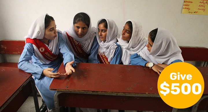 $500 can empower a class of girls to rise and become tomorrow's leaders