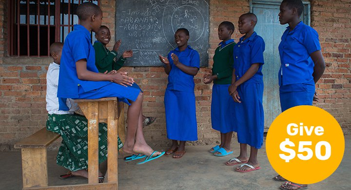 $50 can empower a girl to advocate for her right to be educated