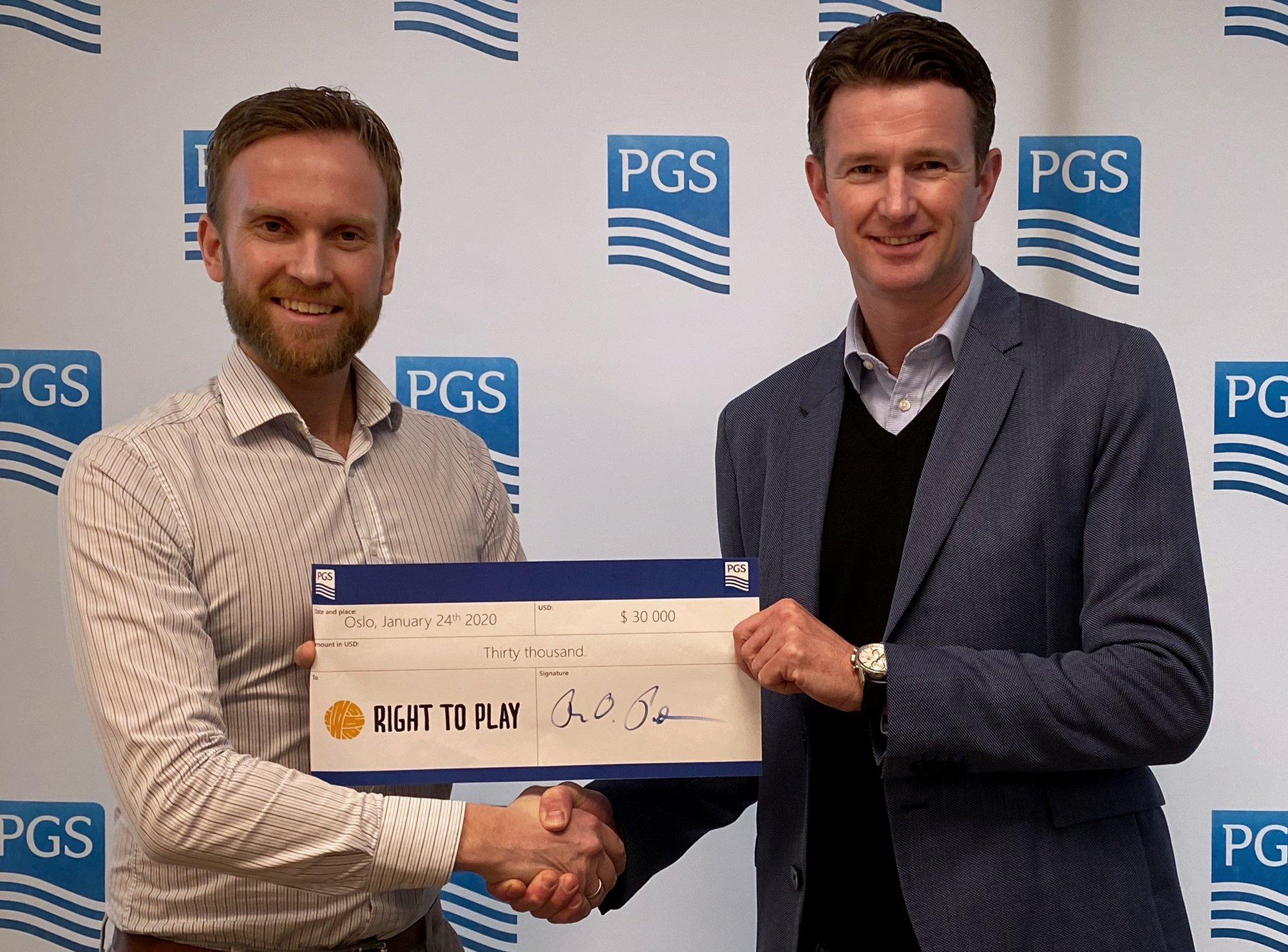 PGS President and CEO Rune Olav Pedersen and Jimmy Vika