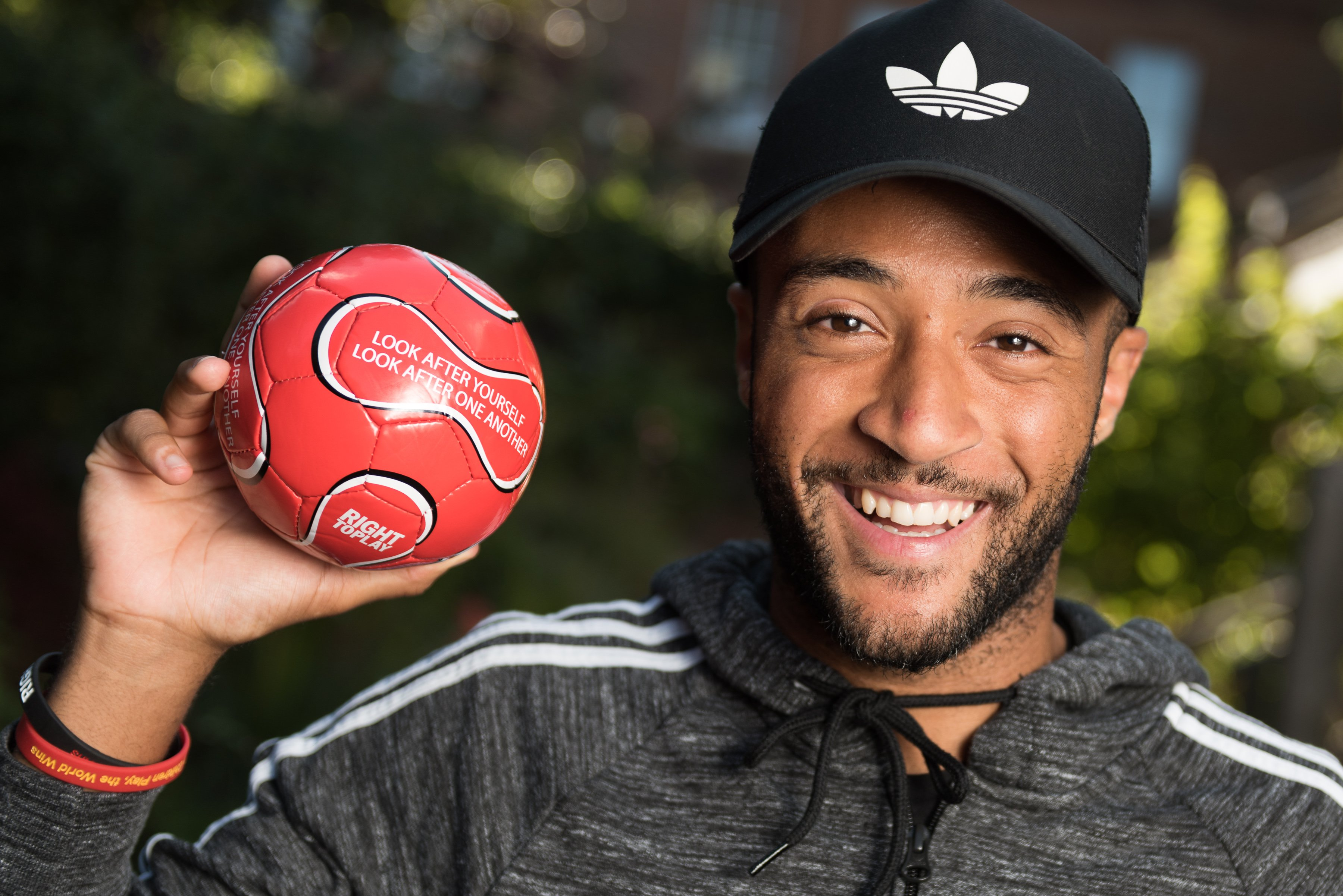 Nathan Redmond Right To Play Ambassador