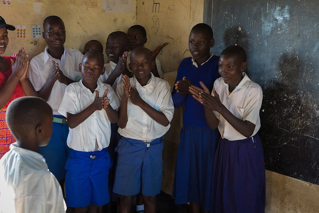 Rhobi with her classmates.jpg