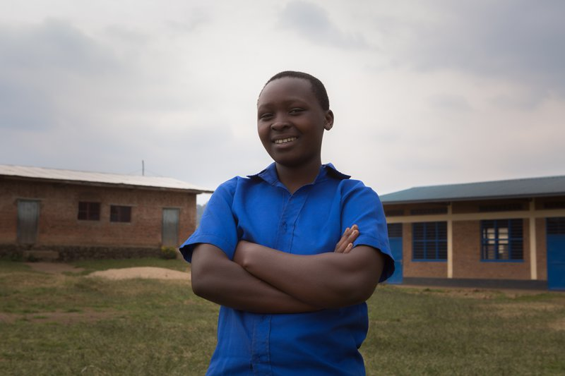 Julienne is challenging the status quo in Rwanda, where the Right To Play Leadership Club has inspired her own crusade to get girls back to school.