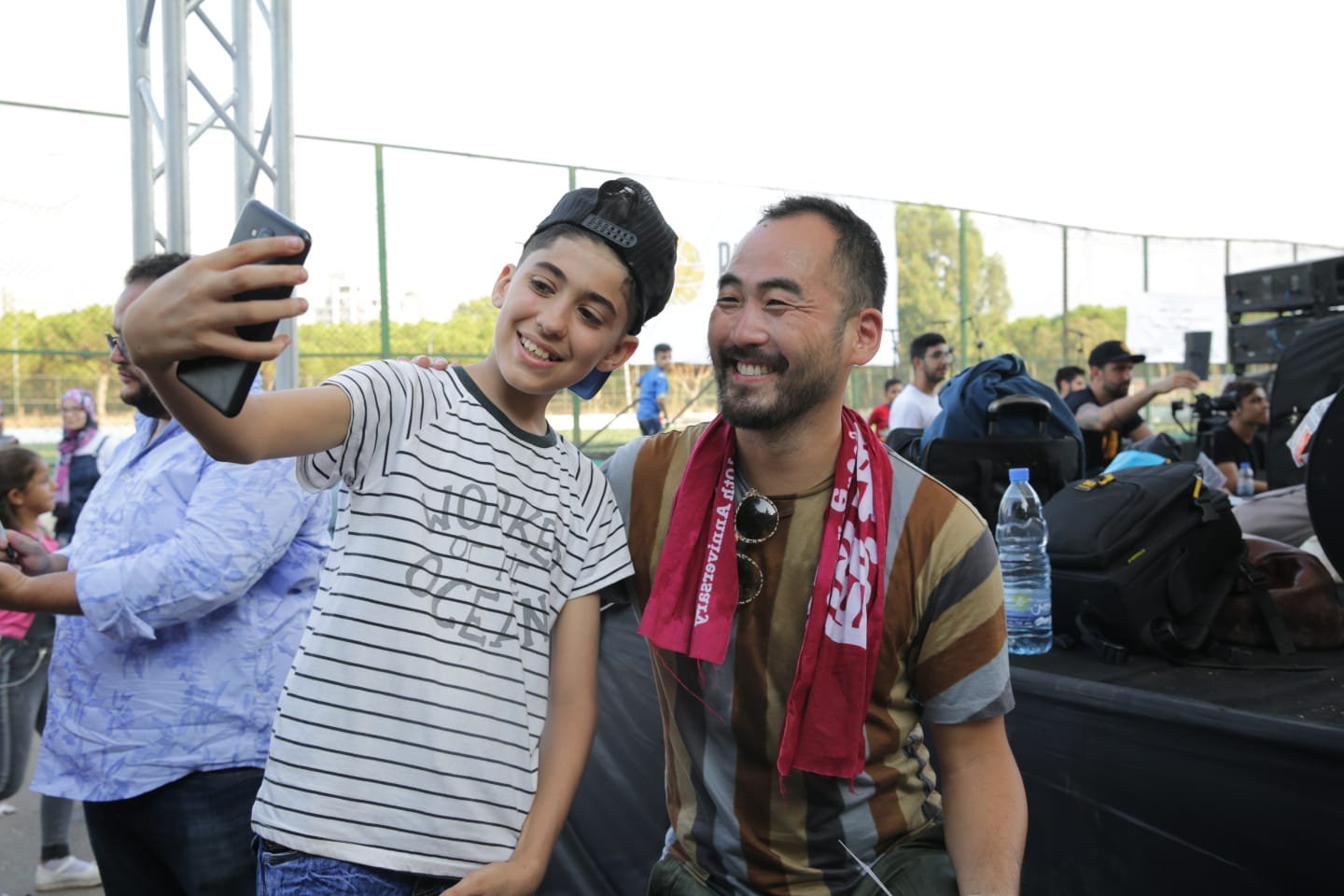 Music For Development - Selfie with Silkroad Musician