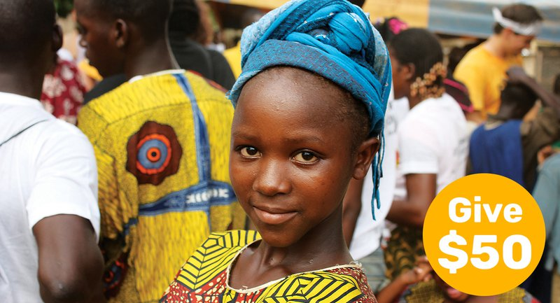 A gift of $50 will empower a girl to rise by advocating for her right to education.